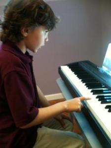 New piano student